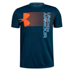 Under Armour Boys Crossfade Training Tee Green XS, Green, rebel_hi-res