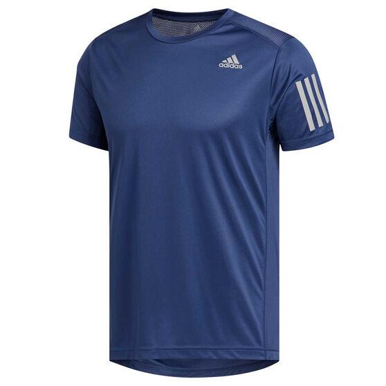 adidas Mens Own the Run Tee, Blue, rebel_hi-res