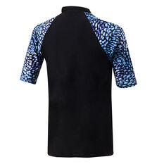 Speedo Womens Leisure Short Sleeve Rash Vest Black/Aqua 8, Black/Aqua, rebel_hi-res