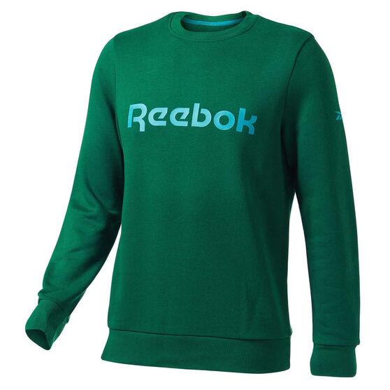 Reebok Mens Fleece Sweatshirt, Teal, rebel_hi-res
