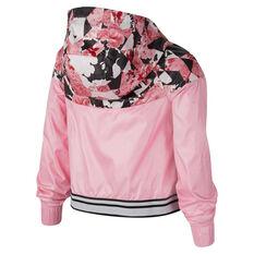 Nike Sportswear Girls Graphic Windrunner Jacket Pink XS, Pink, rebel_hi-res