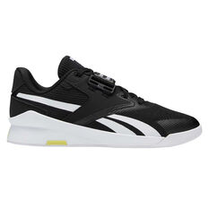 Reebok Lifter PR II Mens Training Shoes Black/White US 7, , rebel_hi-res