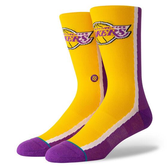 Stance Los Angeles Lakers HWC Warmup Socks Yellow, Yellow, rebel_hi-res