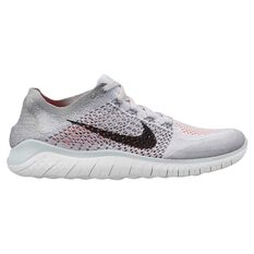 Nike Free RN Flyknit 2018 Mens Running Shoes White / Black US 7, White / Black, rebel_hi-res