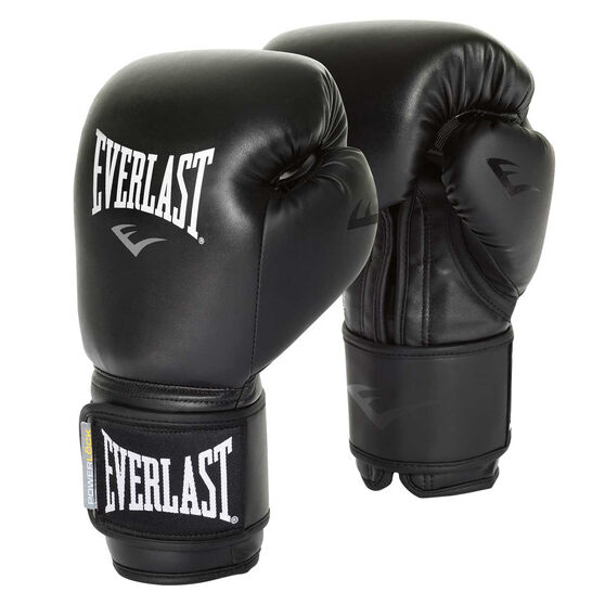 Everlast Powerlock Training Boxing Gloves, Black, rebel_hi-res