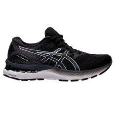 Asics GEL Nimbus 23 D Womens Running Shoes Black/White US 6, Black/White, rebel_hi-res