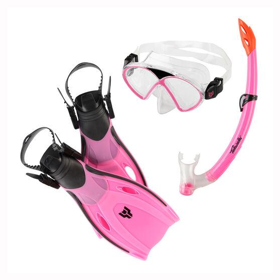 Tahwalhi Junior Dive Set, Pink, rebel_hi-res
