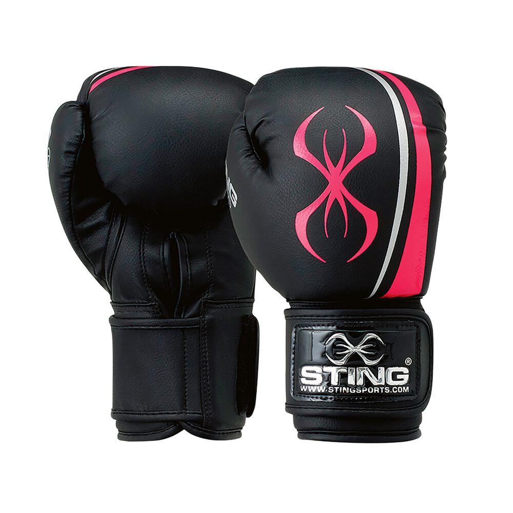 Rebel Sport Inner Gloves: Sting Aurora Boxing Gloves Black / Pink 10oz