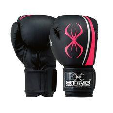 Sting Aurora Boxing Gloves Black / Pink 10oz, , rebel_hi-res