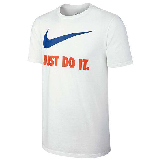 Nike Mens Just Do It Swoosh Tee White S, White, rebel_hi-res