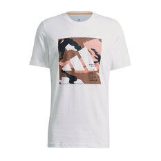 adidas Mens Athletics Graphic Tee White S, White, rebel_hi-res