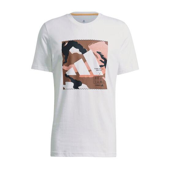 adidas Mens Athletics Graphic Tee, White, rebel_hi-res