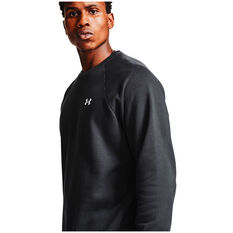 Under Armour Mens Rival Cotton Sweatshirt, Black, rebel_hi-res