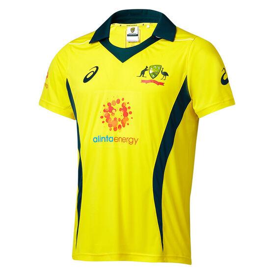 5754c10269f Cricket Australia 2018/19 Mens ODI Home Shirt, Yellow, rebel_hi-res