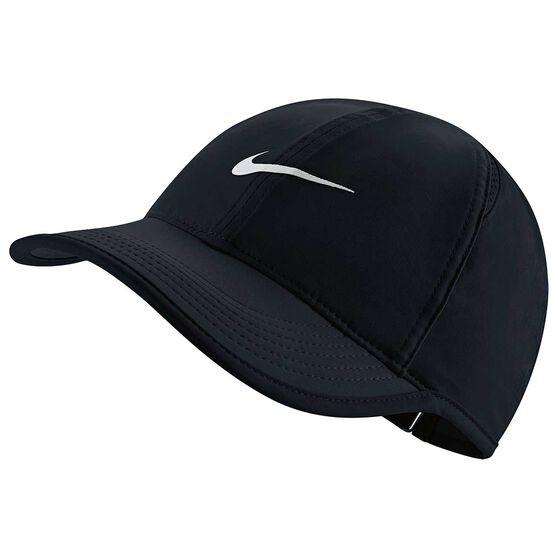 Nike Womens Featherlight Cap Black / White OSFA, Black / White, rebel_hi-res