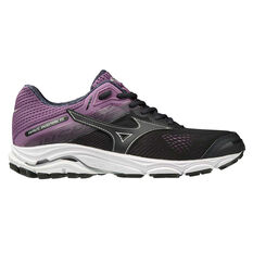 Mizuno Wave Inspire 15 Womens Running Shoes Black / Purple US 6, Black / Purple, rebel_hi-res