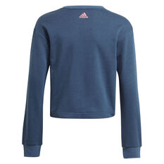 Adidas Girls VF Essential Logo Sweatshirt Navy 4, Navy, rebel_hi-res