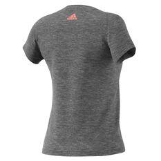 adidas Womens Essentials Linear Tee Dark Grey XS Adult, Dark Grey, rebel_hi-res