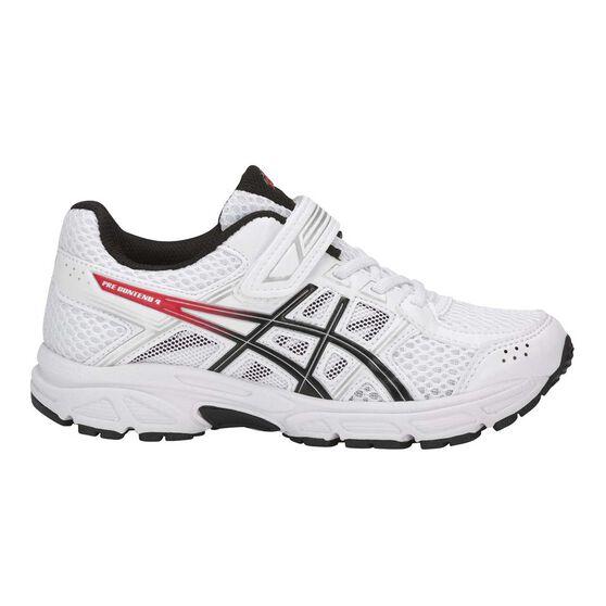 9643b53fe0 Asics Pre Contend 4 Junior Boys Running Shoes White / Black US 12, White /