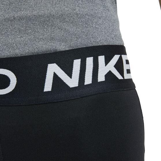 Nike Pro Girls Shorts, Black, rebel_hi-res
