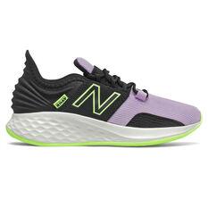 New Balance Fresh Foam Roav Kids Running Shoes Black/Pink US 11, Black/Pink, rebel_hi-res