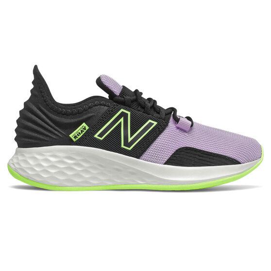New Balance Fresh Foam Roav Kids Running Shoes, Black/Pink, rebel_hi-res