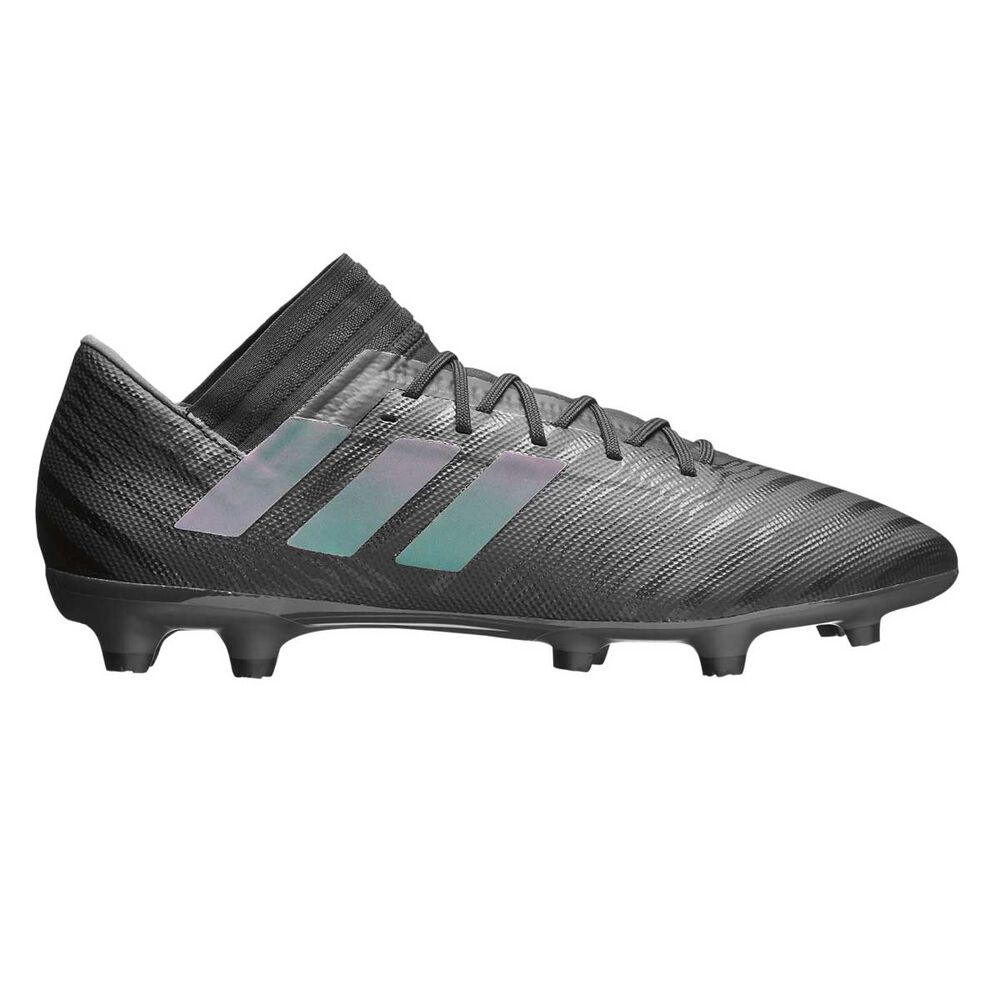 42e0c98d698d adidas Nemeziz 17.3 FG Mens Football Boots Black / Green US 7 Adult, Black /