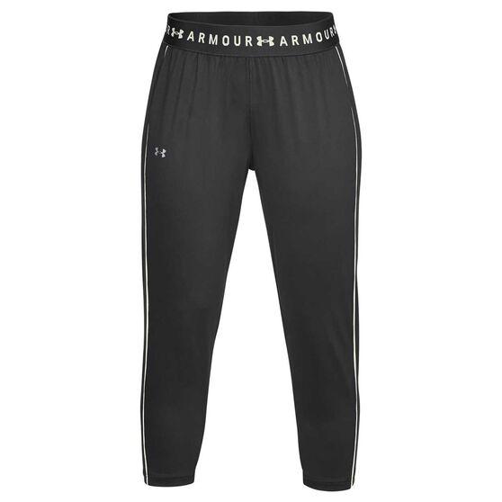 Under Armour Womens UA Armour Sport Crop Pants, Grey, rebel_hi-res