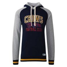 Adelaide Crows Mens Collegiate Pullover Hoodie Blue S, Blue, rebel_hi-res