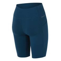 Ell & Voo Womens Paige 9in Printed Pocket Shorts Teal XS, Teal, rebel_hi-res