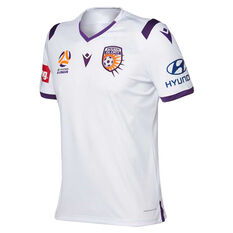 Perth Glory 2019/20 Mens Away Jersey, White, rebel_hi-res