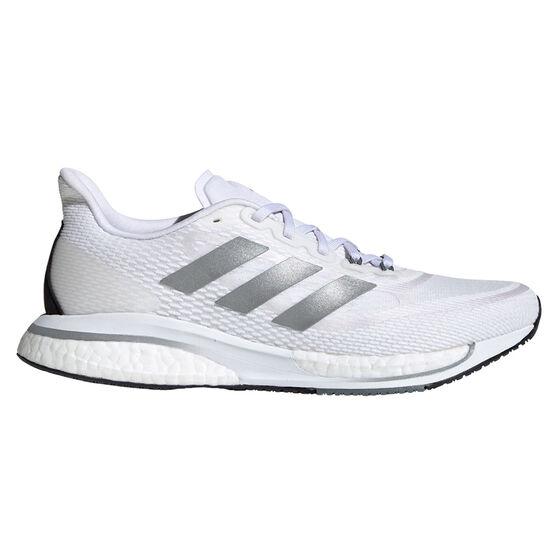 adidas Supernova+ Womens Running Shoes, White/Silver, rebel_hi-res
