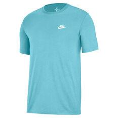 Nike Mens Sportswear Club Tee Blue XS, Blue, rebel_hi-res