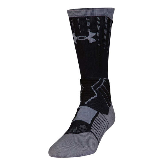 Under Armour Drive Basketball Curry Socks, Black / White, rebel_hi-res