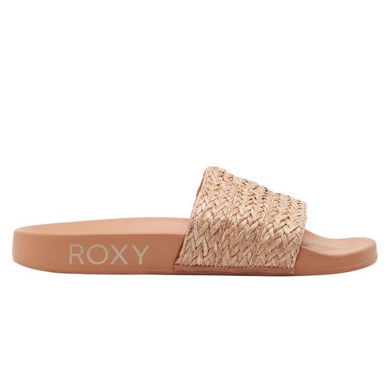 Roxy Slippy Jute Womens Slides, Nude, rebel_hi-res
