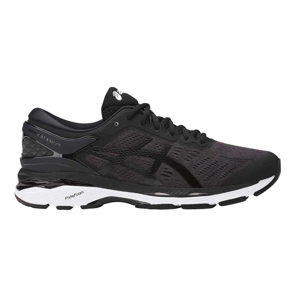 bc89245e88a Asics GEL Kayano 24 Mens Running Shoes Black   White US 8.5