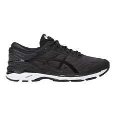 Asics GEL Kayano 24 Mens Running Shoes Black / White US 7, Black / White, rebel_hi-res