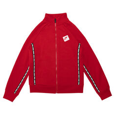 Nike Boys Jumpman Full Zip Track Jacket Red M, Red, rebel_hi-res