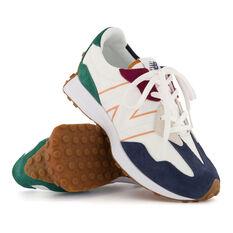 New Balance 327 Kids Casual Shoes, White/Navy, rebel_hi-res