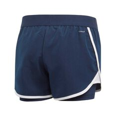adidas Girls Club Shorts Navy / White 8, Navy / White, rebel_hi-res