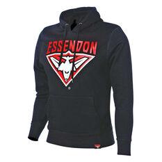 Essendon Bombers 2018 Mens Hoodie Black S, Black, rebel_hi-res
