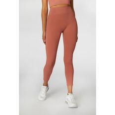 L'urv Womens Aura Seamless 7/8 Tights Pink XS, Pink, rebel_hi-res