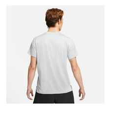 Nike Mens Pro Dri-FIT Short Sleeve Tee Grey S, Grey, rebel_hi-res
