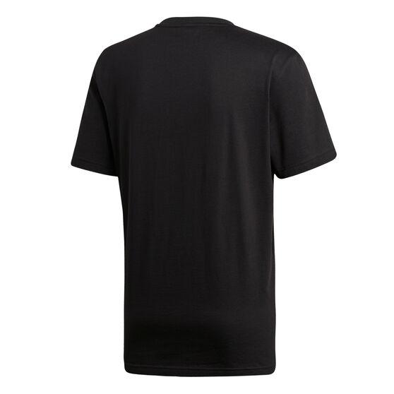 adidas Mens Vertical Graphic Tee, Black / White, rebel_hi-res