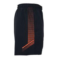 Essendon Bombers 2021 Mens Training Shorts Black XXL, Black, rebel_hi-res