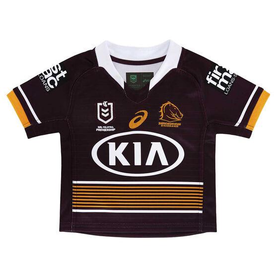 Brisbane Broncos 2021 Infants Home Jersey, , rebel_hi-res