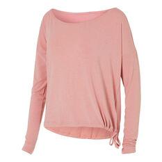 Reebok Womens Nature X Long Sleeve Tee Pink XS, Pink, rebel_hi-res