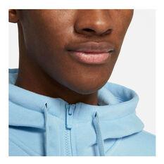 Nike Mens Sportswear Club Fleece Full-Zip Hoodie, Blue, rebel_hi-res