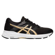 Asics GEL Exalt 5 Womens Running Shoes Black/Gold US 6, Black/Gold, rebel_hi-res