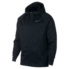 Nike Mens Therma Full Zip Training Hoodie Black S, Black, rebel_hi-res